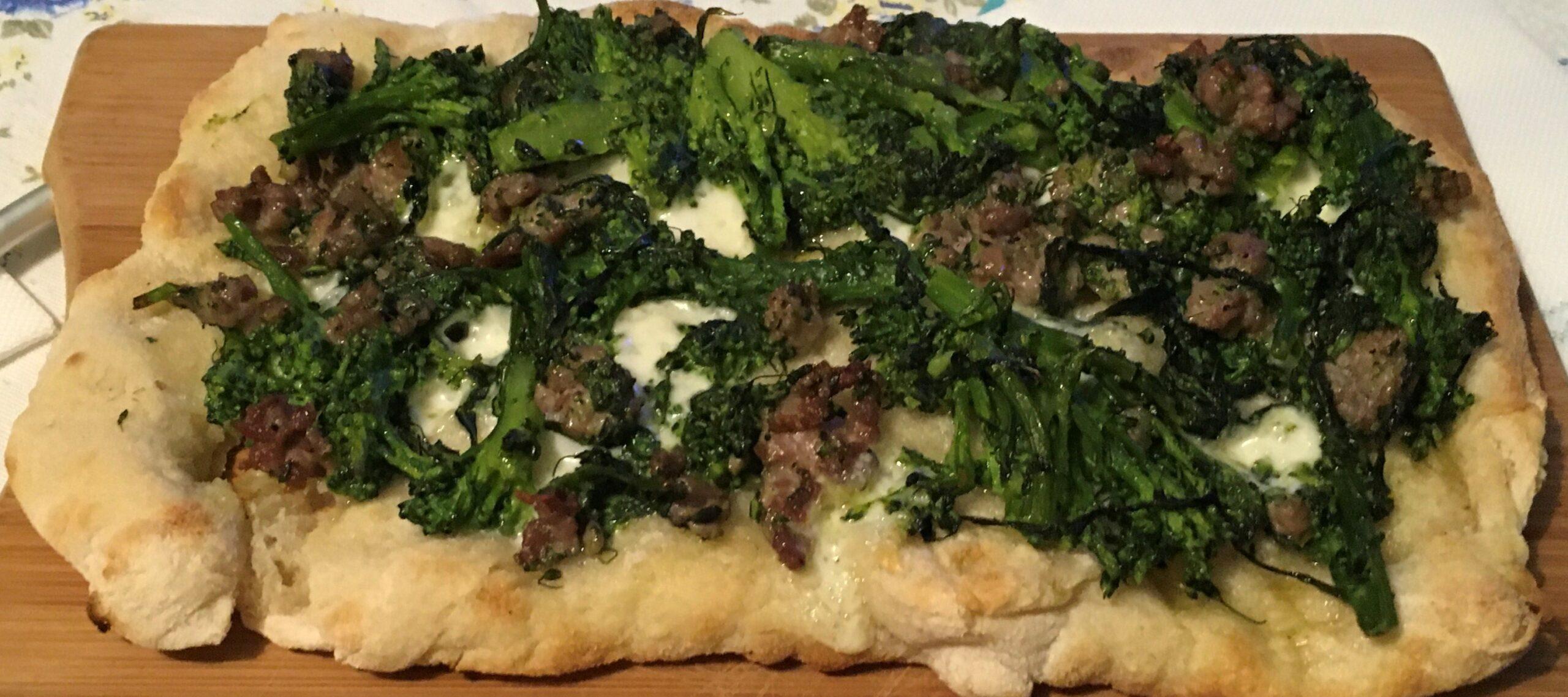 Base Pinsa – Broccoli e Salsiccia